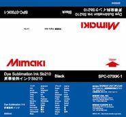 Сольвентные чернила SB210 сублимационные 2000 мл Mimaki SPC-0700K-1 Black