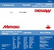 Текстильные чернила SB210 сублимационные 2000 мл Mimaki SPC-0700LBL-1 Light Blue
