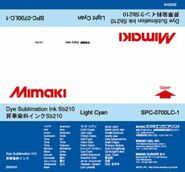 Сольвентные чернила SB210 сублимационные 2000 мл Mimaki SPC-0700LC-1 Light Cyan