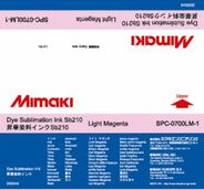 Текстильные чернила SB210 сублимационные 2000 мл Mimaki SPC-0700LM-1 Light Magenta