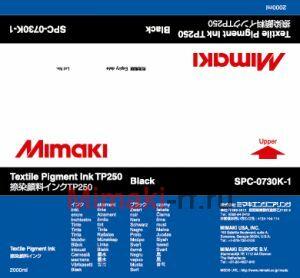Текстильные чернила TP250 пигментные 2000 мл Mimaki SPC-0730K-1 Black