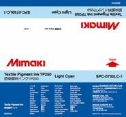 Текстильные чернила TP250 пигментные 2000 мл Mimaki SPC-0730LC-1 Light Cyan
