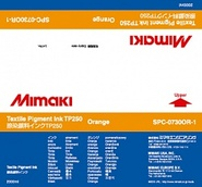 Текстильные чернила TP250 пигментные 2000 мл Mimaki SPC-0730OR-1 Orange