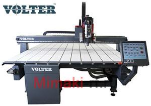 Ширикоформатный фрезерный комплекс VOLTER 2016 2200*1610 рабочее поле. В комплект входит:  вакуумный стол, датчик длины инструмента, косозубые рейки, насадка для удаления стружки.