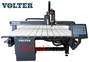 Ширикоформатный фрезерный комплекс VOLTER 4020, 4200*2150 рабочее поле. В комплект входит:  вакуумный стол, датчик длины инструмента, косозубые рейки, насадка для удаления стружки.