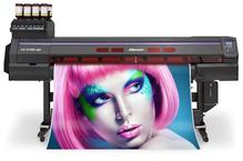 MIMAKI UCJV300-160.  Универсальный UV-LED(C, M, Y, K, LC, LM, W) плоттер-каттер с возможностью печати и контурной резки. Максимальная ширина печати-резки  1610мм.  Разрешение 300 dpi/1200 dpi, скорость печати до 25,8 м2/час, печатающие головки нового поко