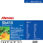 Текстильные чернила SB410 сублимационные 2000 мл Mimaki SB410-BLT-2L-1 Blue