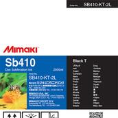 Текстильные чернила SB410 сублимационные 2000 мл Mimaki SB410-KT-2L-1 Black