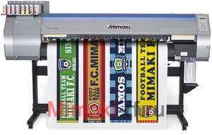 MIMAKI TS30-1300.  Плоттер для сублимационной печати. Максимальная ширина печати 1361мм. Система непрерывной подачи чернил.  Разрешение 540 dpi/1080 dpi, скорость печати 19,6 м2/час.  Используемые чернила:  дисперсные. Система рулонной подачи, изменяемый