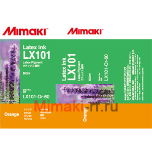 Latex-SUV чернила LX101 латексные 600 мл Mimaki LX101-OR-60-1 Orange