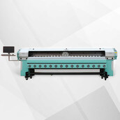 Сольвентный принтер Ark-Jet sol 3208-KM1024i на 8 головках KonicaMinolta1024i, в комплекте - система намотки рулонных материалов, система размотки рулонных материалов, сушка навесная 1, кабель питания, кабель USB, программное обеспечение RIP FlexiPrint (P
