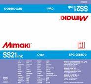 Сольвентные чернила SS21 Bulk 2000 мл Mimaki SPC-0588C-3 Cyan