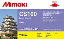 Сольвентные чернила CS100 2000 мл Mimaki CS100-Y-BB-1 Yellow