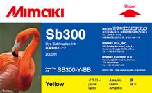 Текстильные чернила SB300 2000 мл Mimaki SB300-Y-BB-1 Yellow