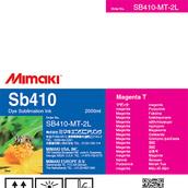 Текстильные чернила SB410 сублимационные 2000 мл Mimaki SB410-MT-2L-1 Magenta