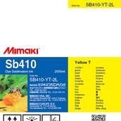 Текстильные чернила SB410 сублимационные 2000 мл Mimaki SB410-YT-2L-1 Yellow