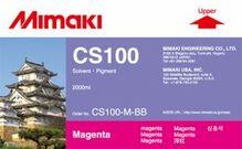 Сольвентные чернила CS100 2000 мл Mimaki CS100-M-BB-1 Magenta